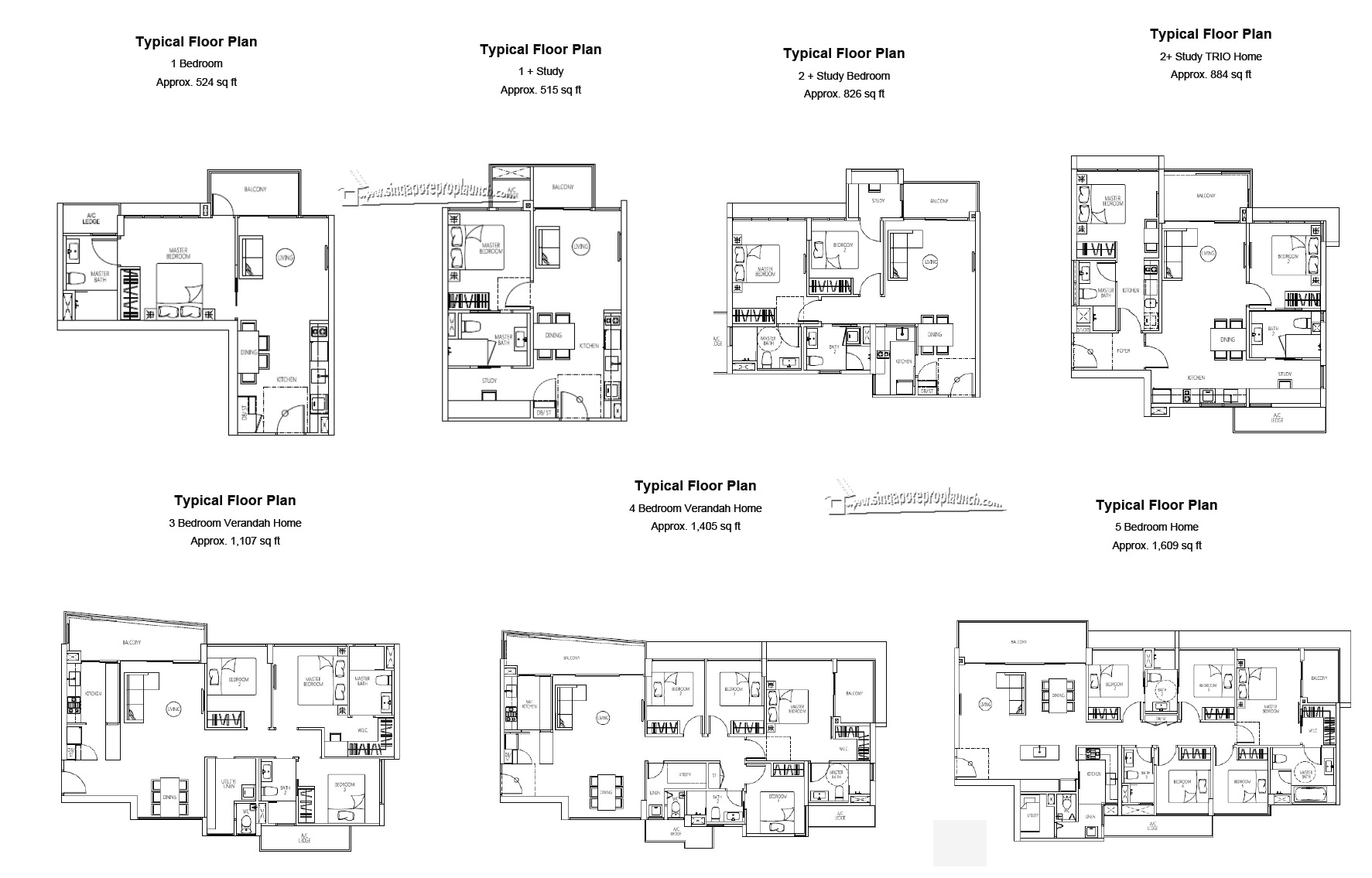 Qbay Tampines Floor Plan1 Singapore New Property Launch