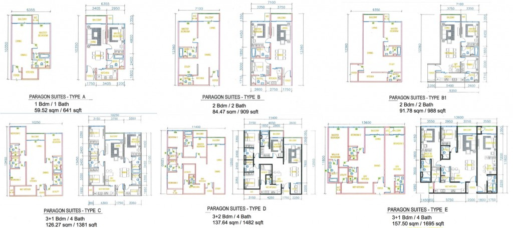 Paragon Suites Floor Plan Singapore New Property Launch
