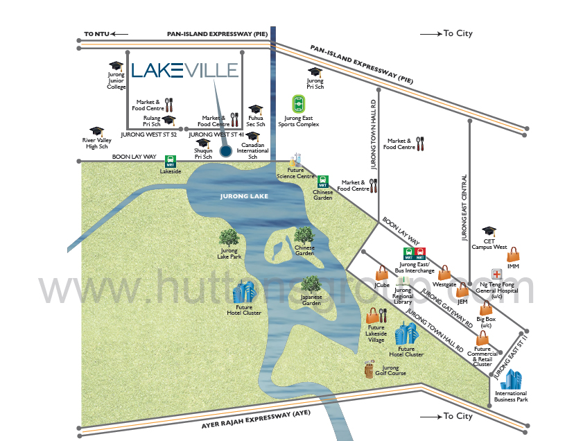 Lakeville amenities map