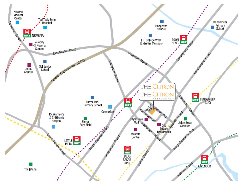The citron residences singapore new property launch 6100 0601 the citron residences location map sciox Images