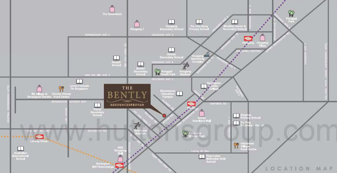 The-Bently-Residences-location-map