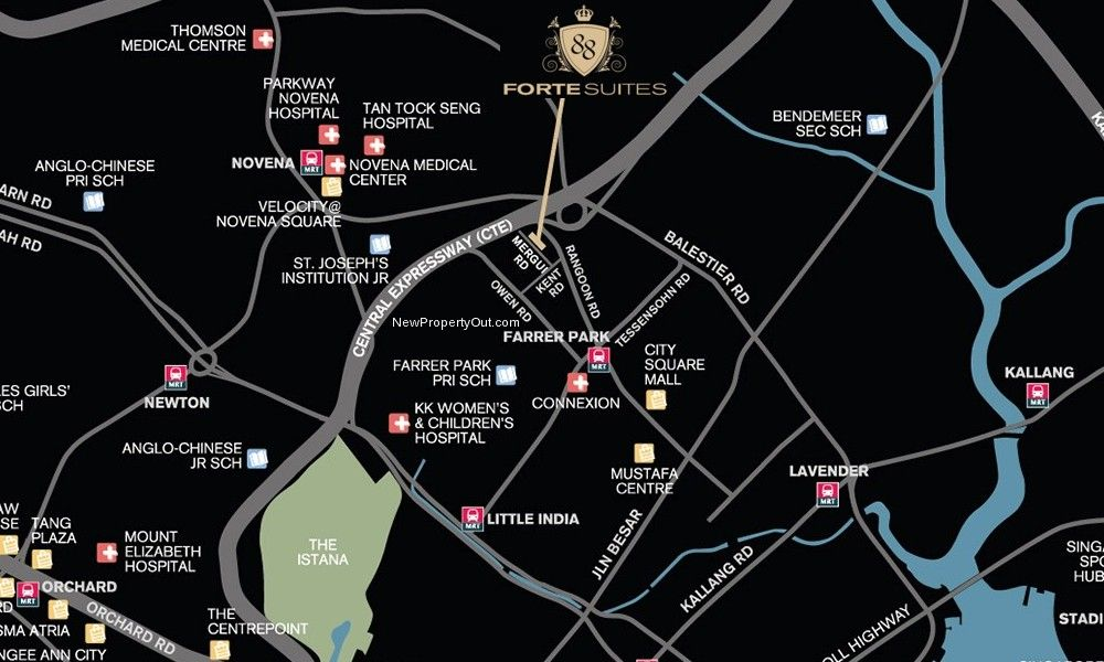 Forte-Suites-Location-Map