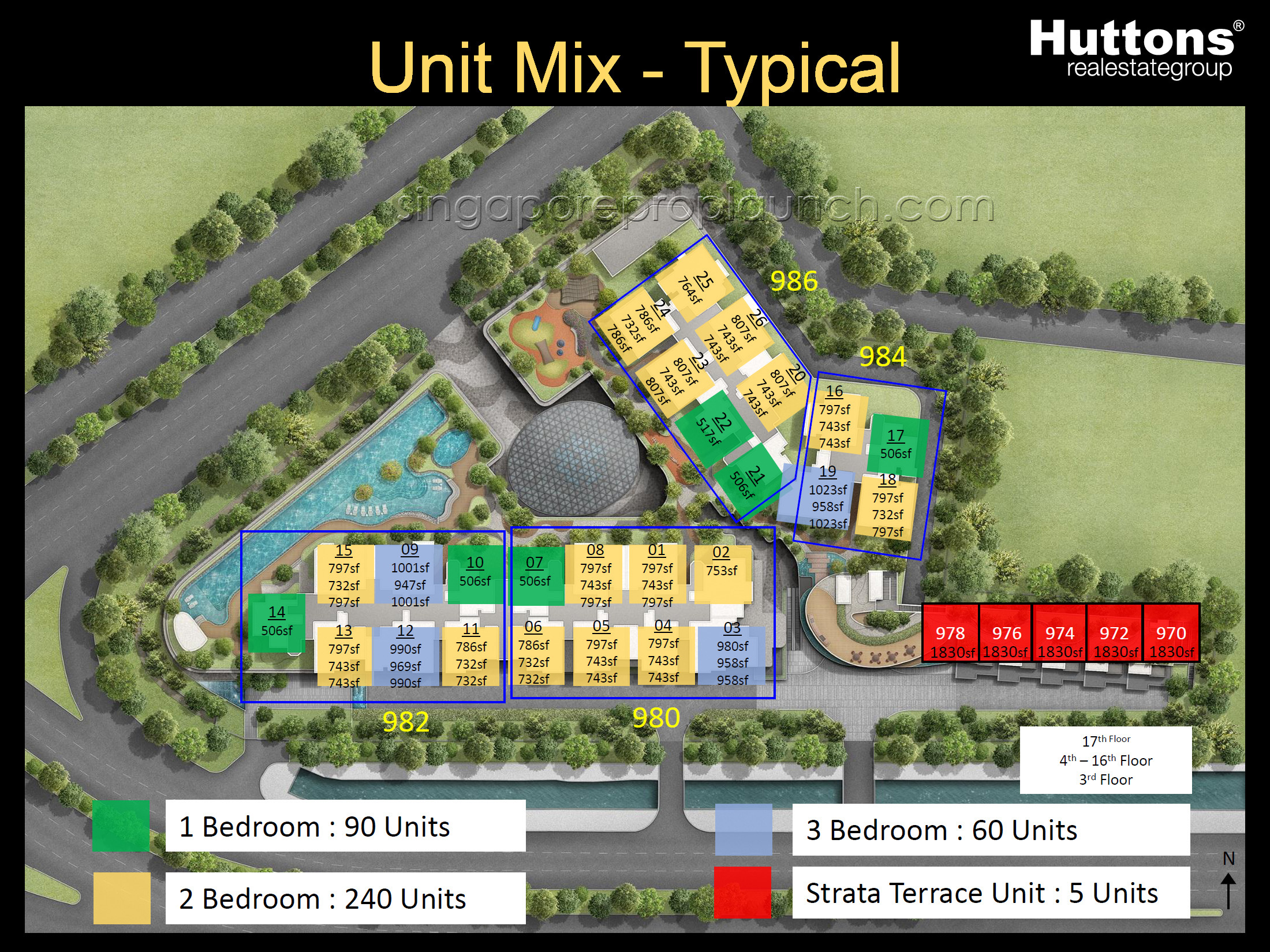 Site plan typical units