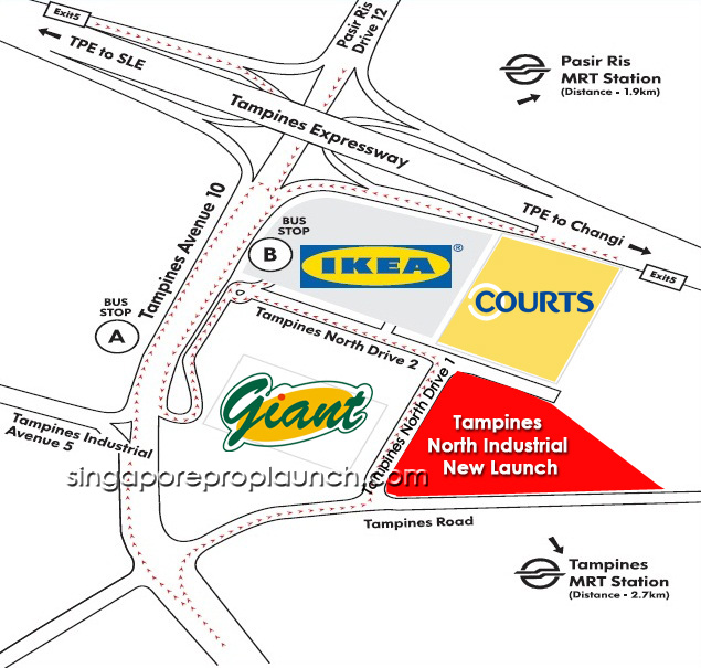 Tampines North Industrial_Location