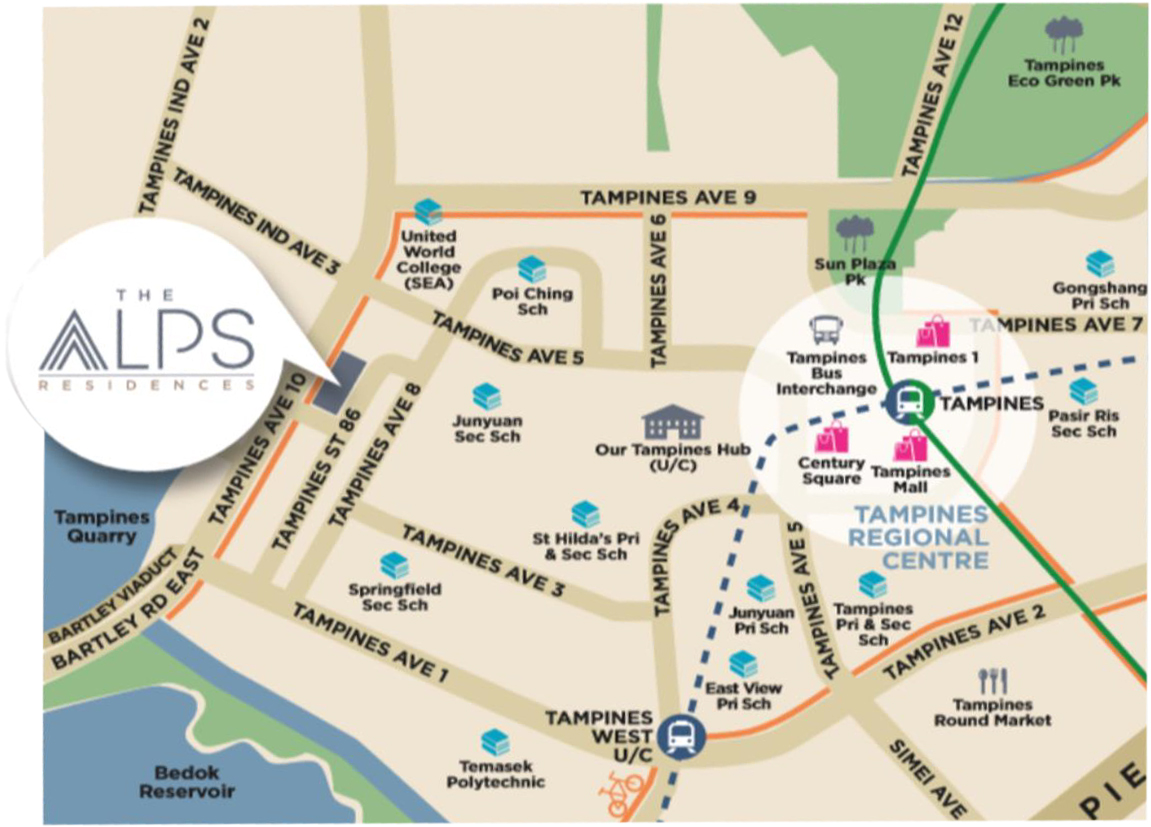 The Alps Residences_Location Map