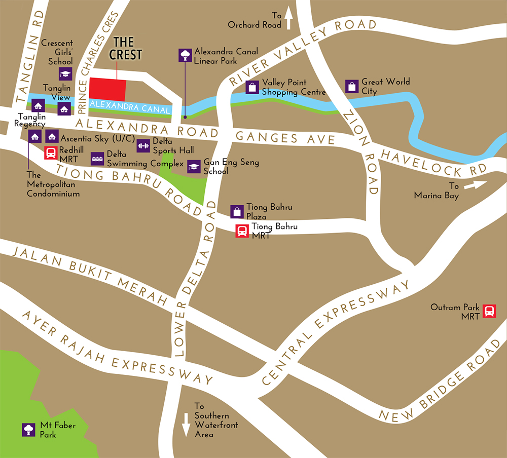 The crest prince charles crescent location map singapore new the crest prince charles crescent location map gumiabroncs Images