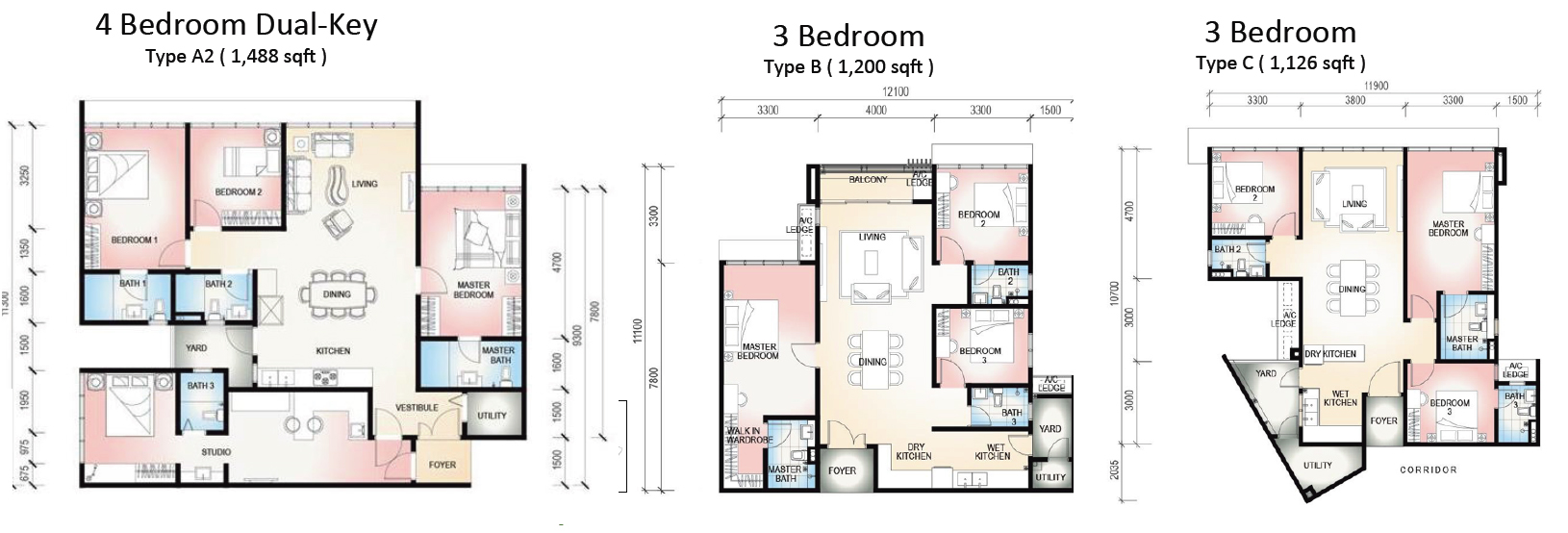 Botanika Floor Plan Singapore New Launch 187 6100 0601