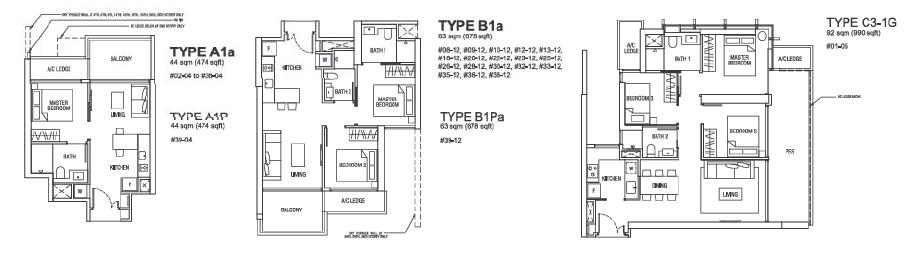 Alex Residences Floor Plan Singapore New Launch 6100 0601